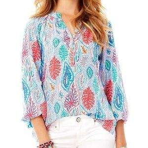 Lilly Pulitzer Elsa Top Let Minnow Size S